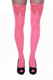 Pink with pink bow over the knee stockings
