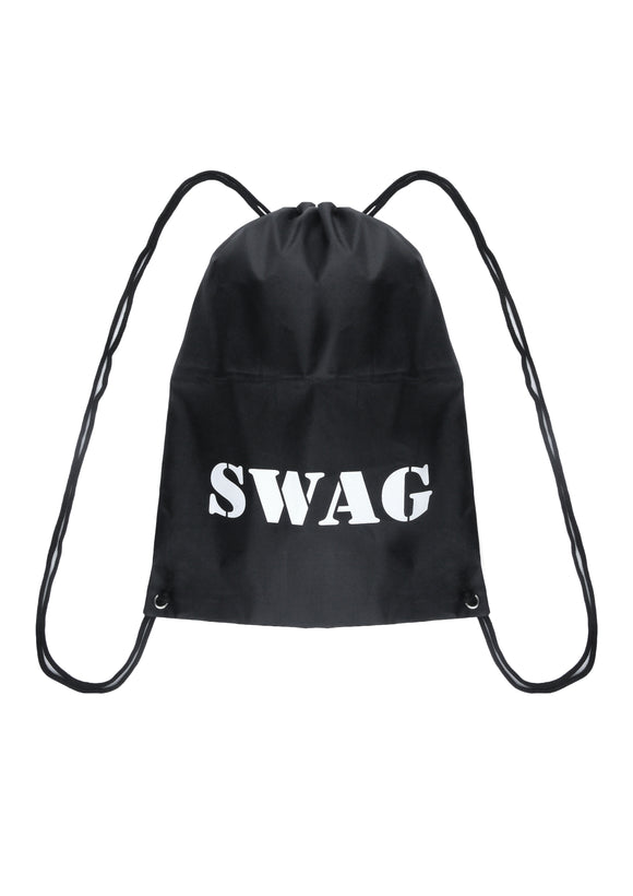 Fancy dress Swag drawstring bag - party accessory - cops & robbers