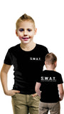 Children's fancy dress black SWAT t-shirt