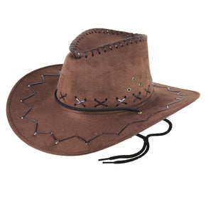 Fancy Dress Adults Cowboy Western Explorer Hats - brown and black