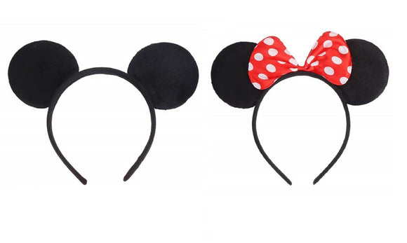 Boy & girl fancy dress costume mouse ears main image