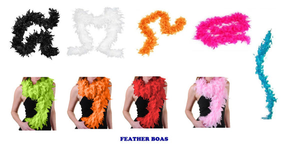 Assorted fnacy dress gatsby feather boa's