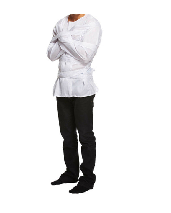 White Fancy Dress Costume Straight Jacket