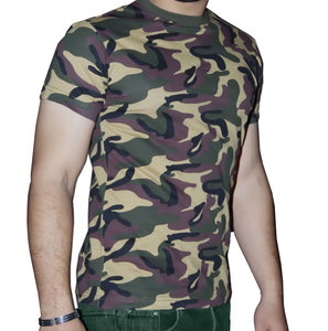 Fancy dress costume armed forces camouflage t-shirt top