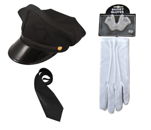 Fancy dress chauffeur limo driver set