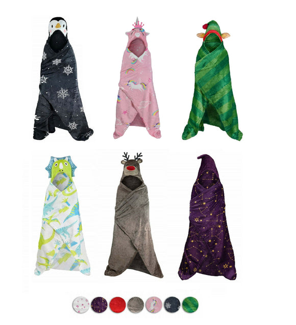 Children's Themed Hooded Blankets