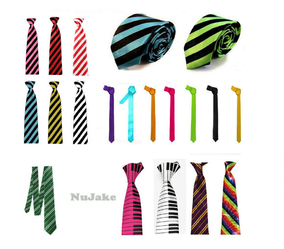 Assorted fancy dress satin skinny ties main picture