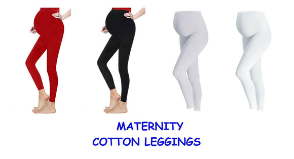 Assorted full length cotton rich maternity / pregnancy leggings