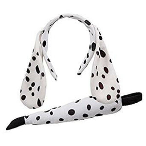 Dalmatian dog fancy dress ears and tail set