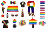 Gay pride festival fancy dress items - assorted multi / rainbow coloured accessories - LGBT community