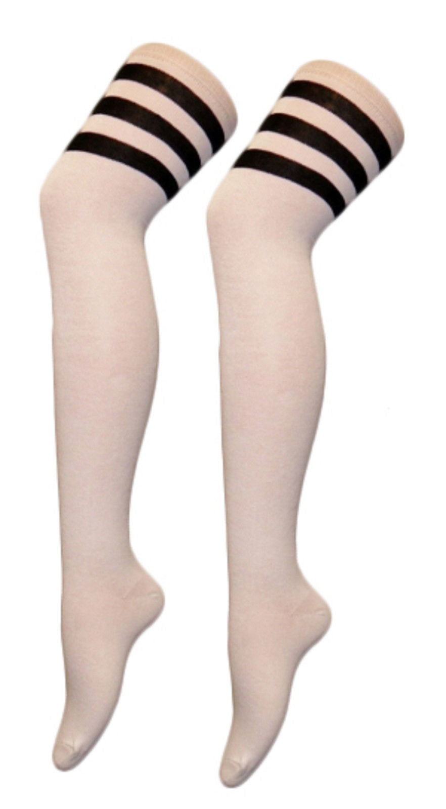 2fed104fb ... LADIES AND MENS OVER THE KNEE THIGH HIGH 118 - 118 REFEREE SOCKS FANCY  DRESS ...