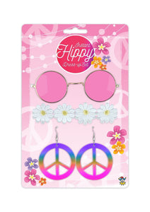 Pink hippie fancy dress 4 piece set