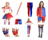 Red and blue fancy dress suicide set ladies