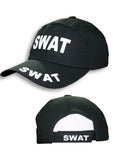 Fancy dress black adults baseball swat cap / hat