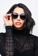 Load image into Gallery viewer, Privado Athene black sunglasses on female model