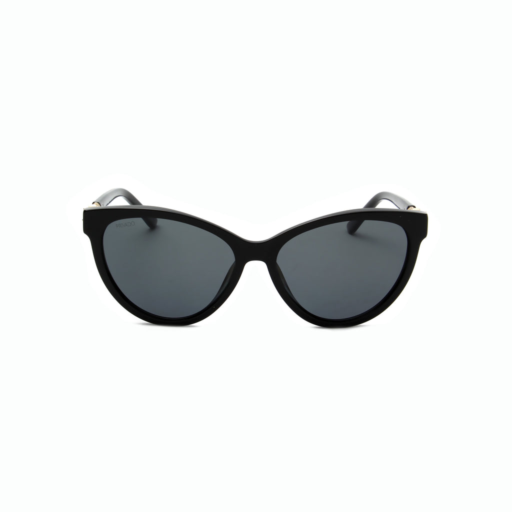 Privado Bubo black cat-eye sunglasses,acetate and metal frame,grey nylon polarized lens,UV400 protected with anti-reflective coating
