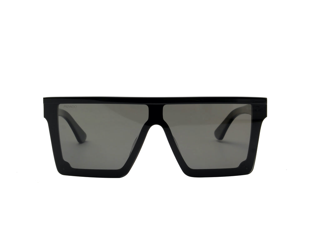 Privado Seductus black sunglasses,acetate frame,grey nylon polarized lens,UV400 protected with anti-reflective coating