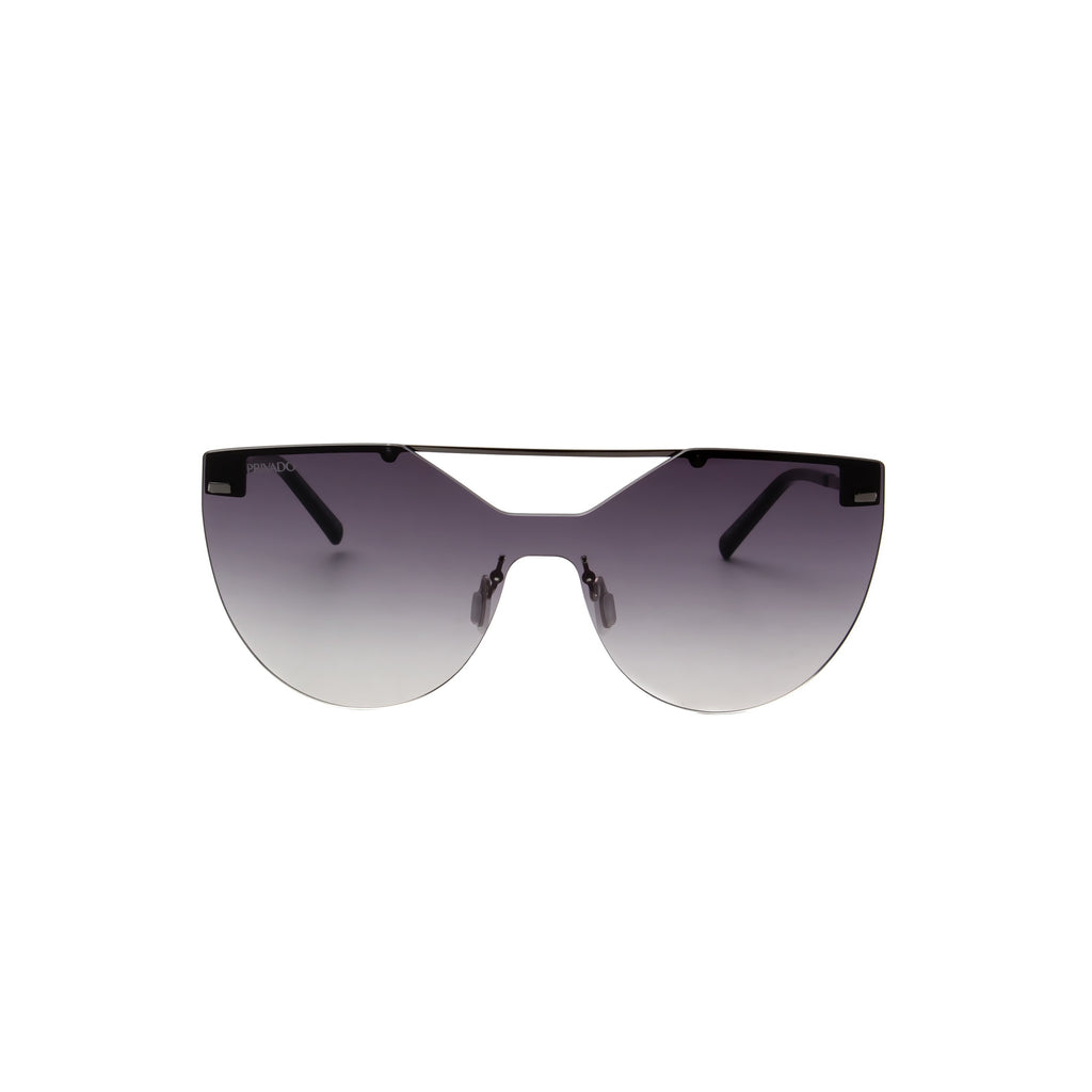 Privado Strix gunmetal sunglasses,metal frame,grey gradient nylon lens,UV400 protected with anti-reflective coating