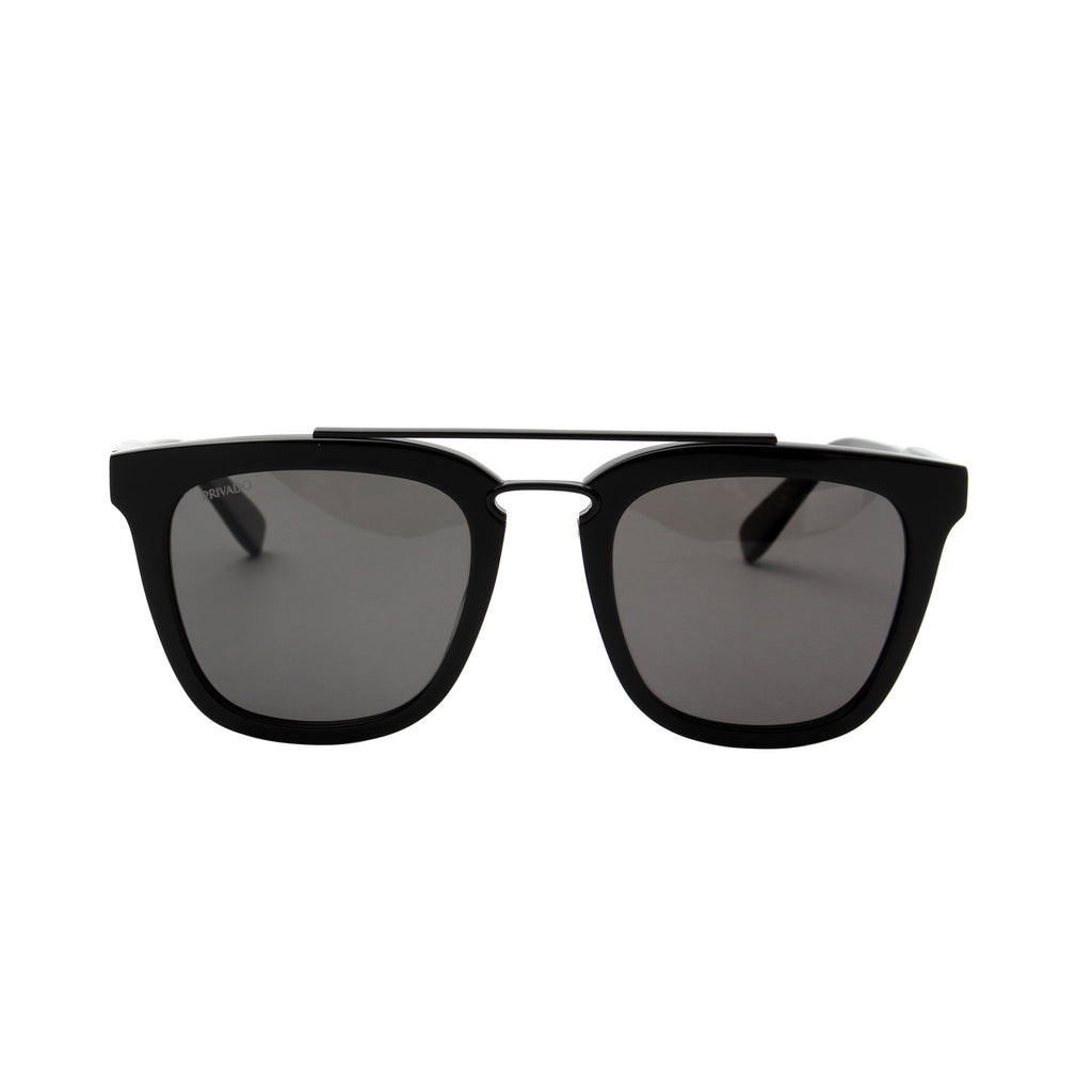 Privado Tyto black sunglasses,acetate and metal frame,grey nylon polarized lens,UV400 protected with anti-reflective coating