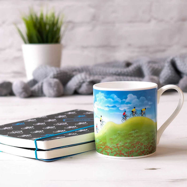 Adventure Cycling Mug by Lucy Pittaway