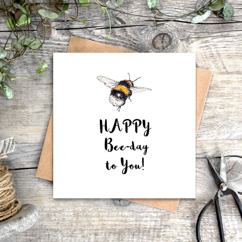 Happy Bee-Day To You Card
