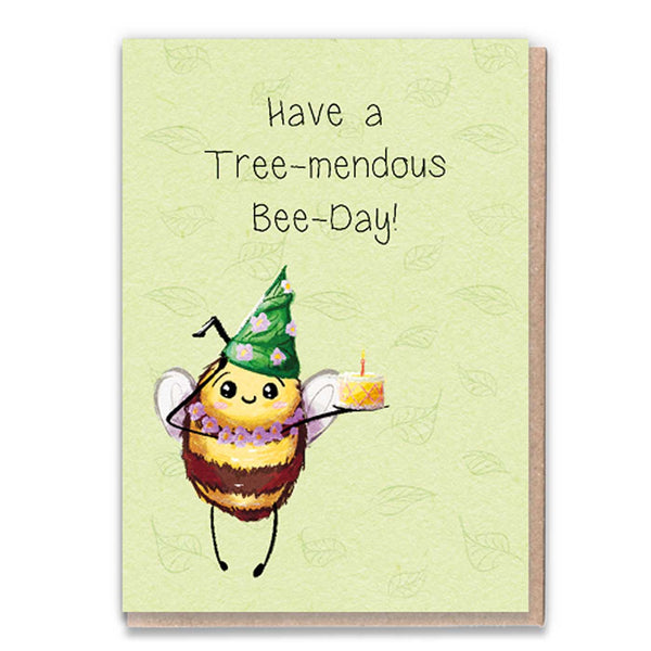 Bee Day Flowers Card