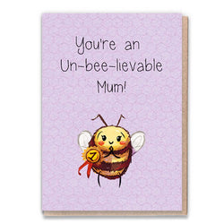 Un-Bee-lievable Mum Card by 1 Tree Cards