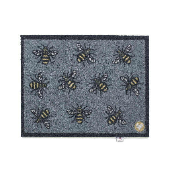 Grey Bee Rug by Hug Rug