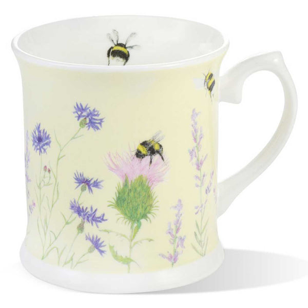 Bee & Flower Yellow China Mug