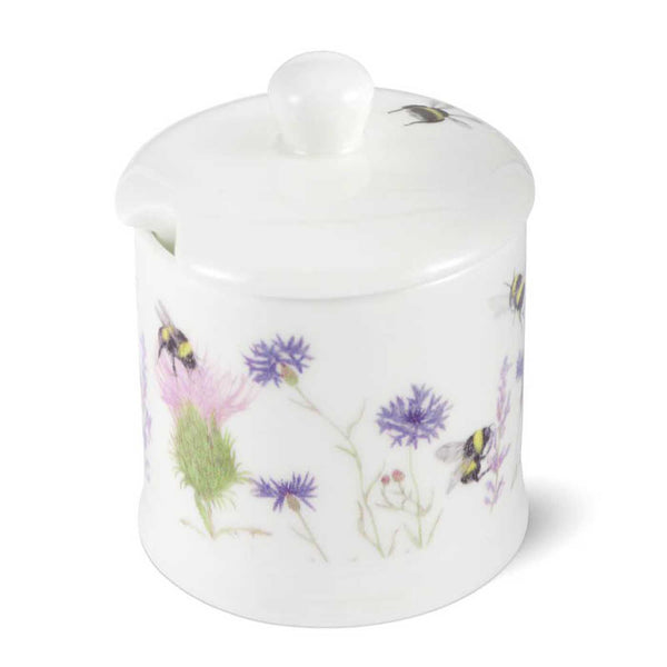 Bee & Flower China Jam/Honey Pot