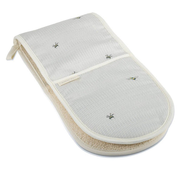 Bee & Stripe Double Oven Gloves by Mosney Mill