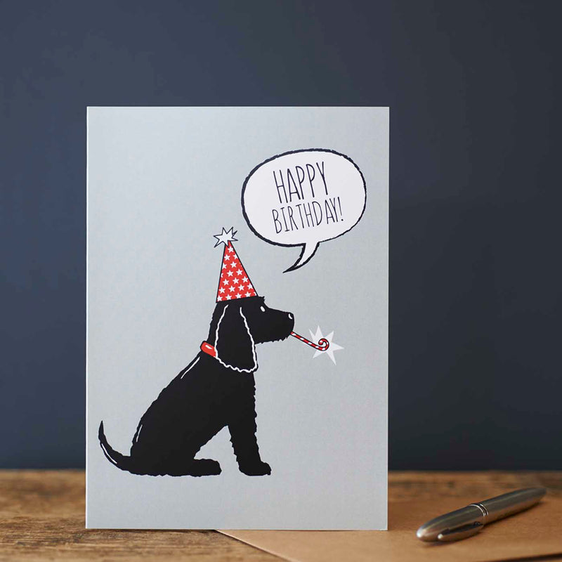 Black Cocker Spaniel Birthday Card