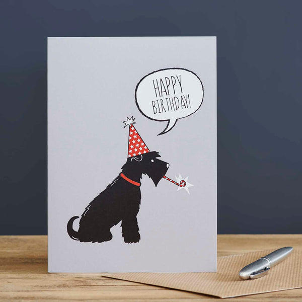Black Schnauzer Birthday Card