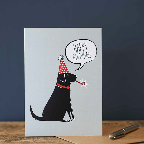 Black Labrador Birthday Card