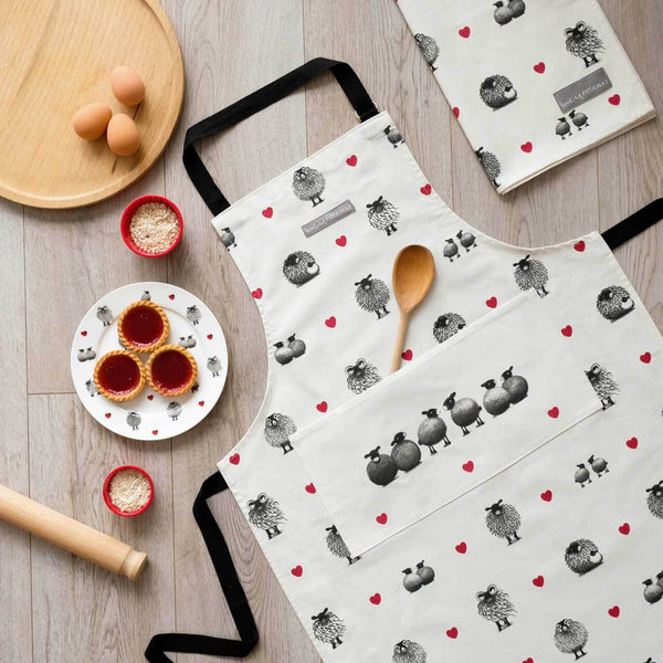 Black & White Sheep Apron