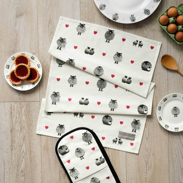 Black & White Sheep Tea Towel