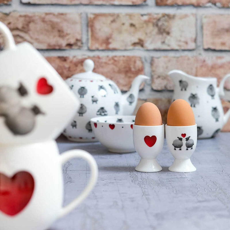 Black & White Sheep Egg Cup
