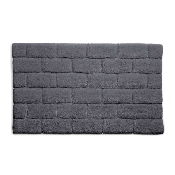 Bamboo Brick Graphite Bath Rug by Hug Rug