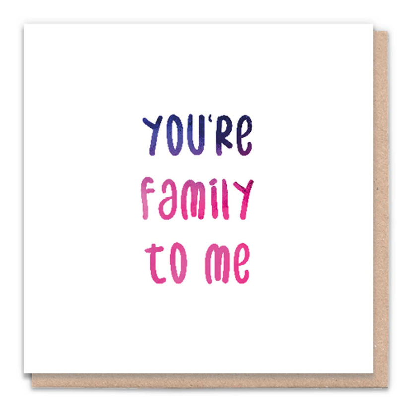 You're Family Card
