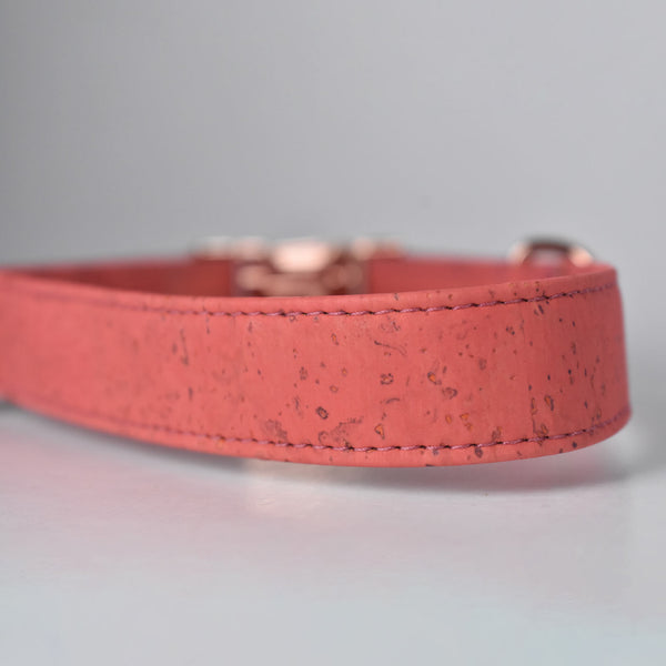Coral Cork Dog Collar