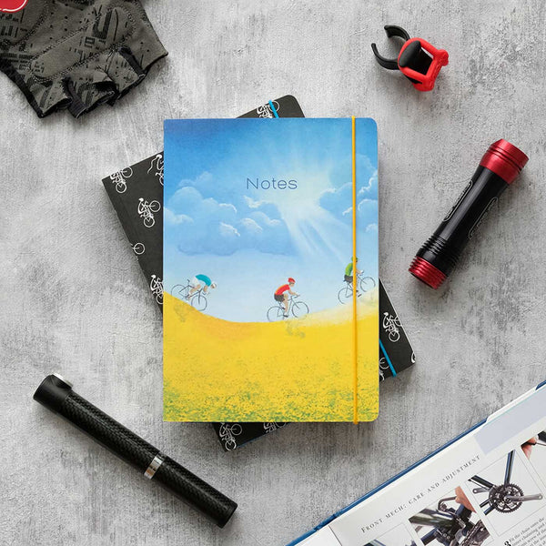 Cycling Yellow A5 Notebook