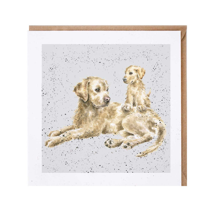 Golden Lab Dog Card