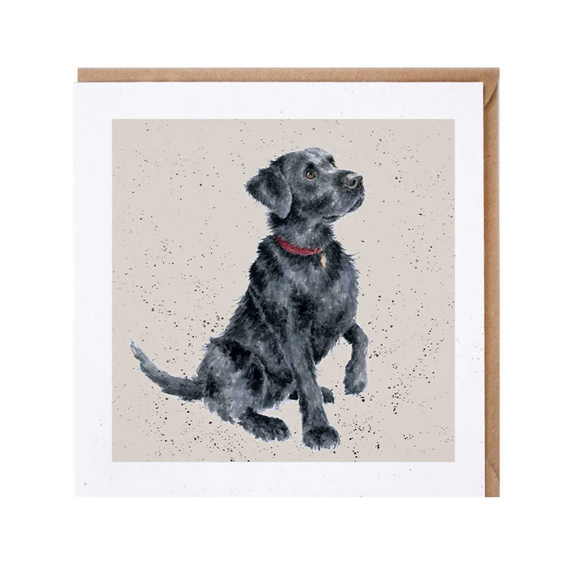 Black Lab Dog Card