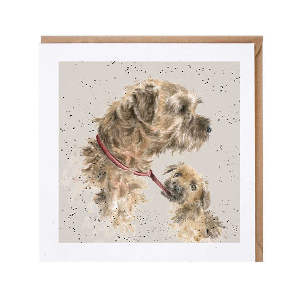 Border Terrier Dog Card