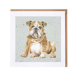 Bulldog Dog Card