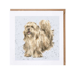 Lhasa Apso Dog Card by Wrendale