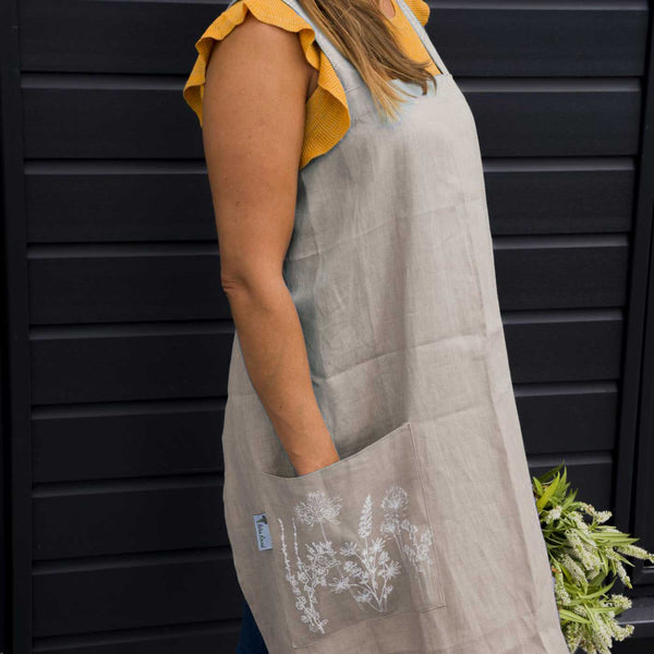 Garden Natural Apron by Helen Round