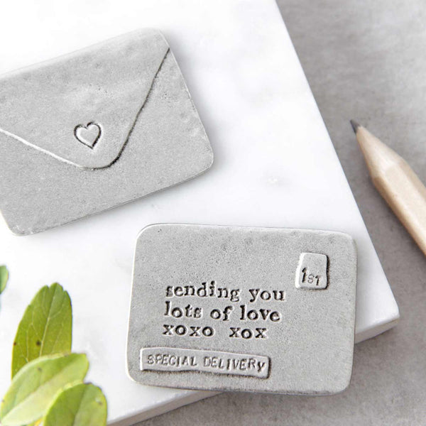 'Lots Of Love' Envelope Message Token Gifts