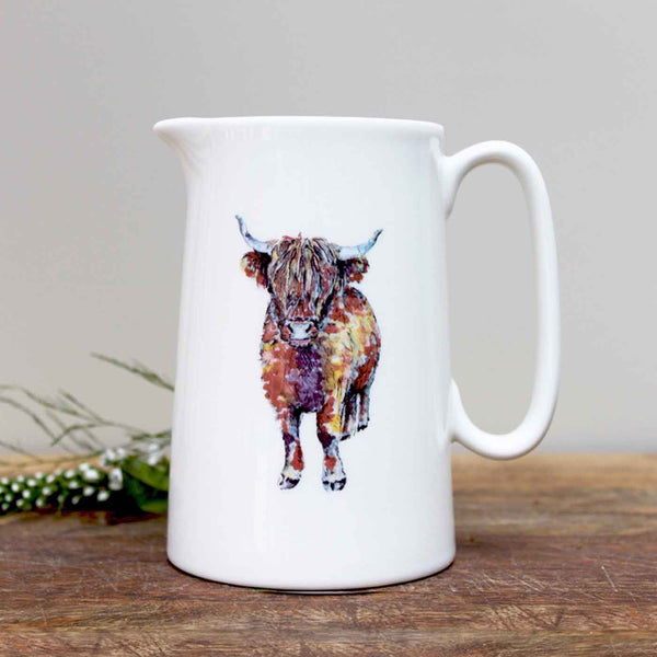 Highland Cow Pint Jug