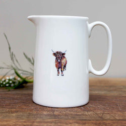 Highland Cow 1/2 Pint Jug by Toasted Crumpet